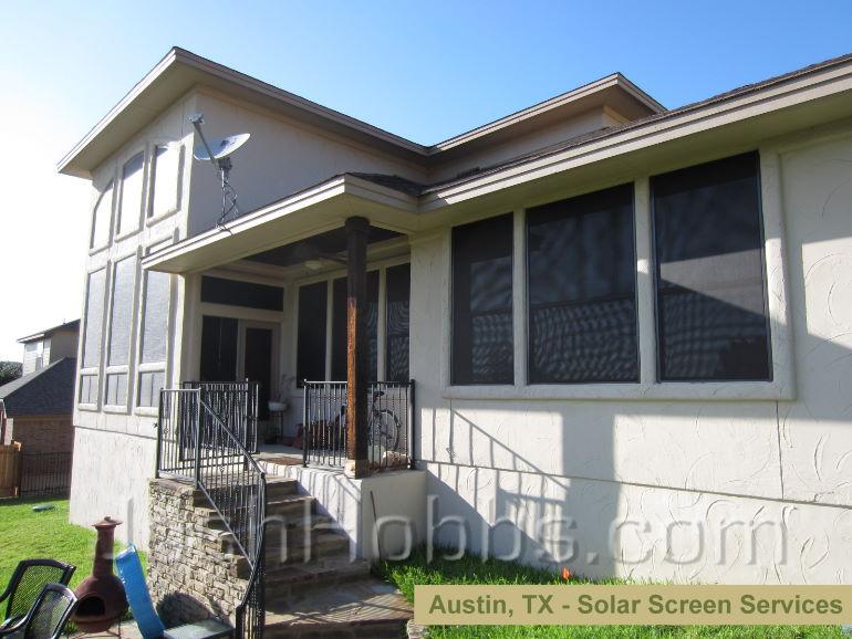 33 piece Solar Window Screen installation in Austin TX